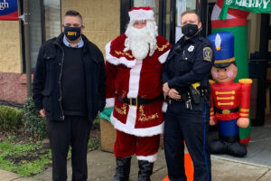 Santa at Eddystione - with officers