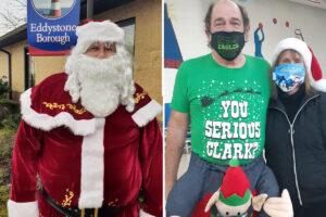 Santa and characters
