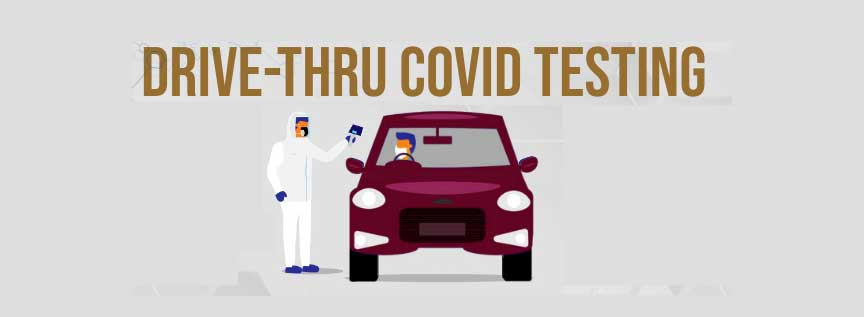Drive-thru COVID Testing